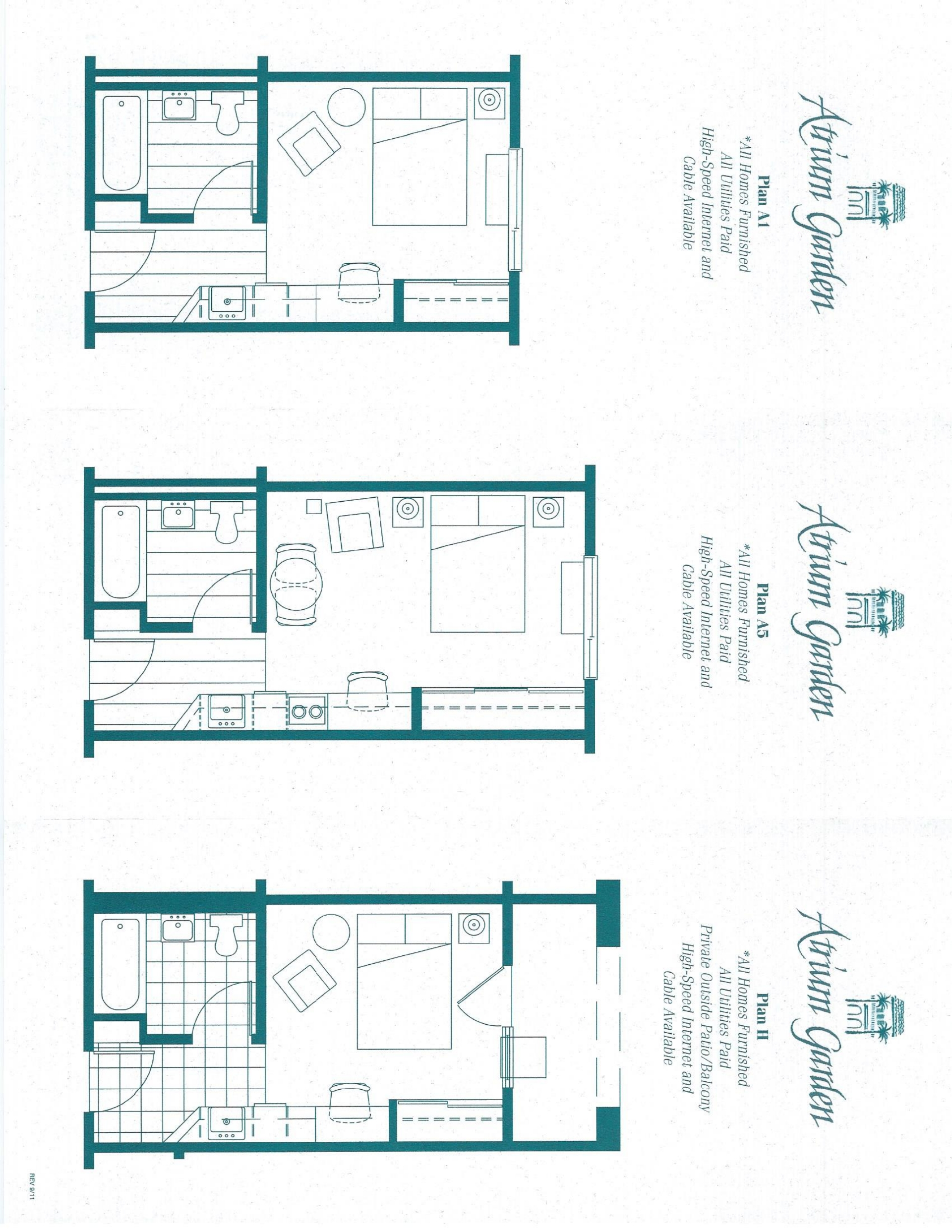 Atrium garden studio apartments - Planning the studio apartment floor plans ...